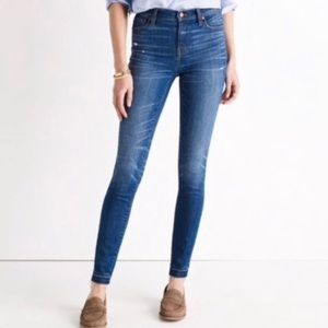 "Madewell 9"" High Rise Skinny Hammond Released Hem"